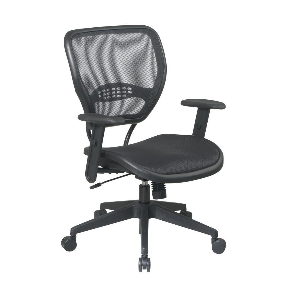 office star chairs chair covers to buy melbourne space seating deluxe black airgrid back 5560 the home