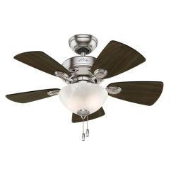 Ceiling Fan Light Kits Bazooka Tube Wiring Diagram Hunter Watson 34 In Indoor Brushed Nickel With Kit