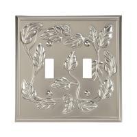 Amerelle Leaf 2 Toggle Wall Plate - Satin Nickel-85TTN ...