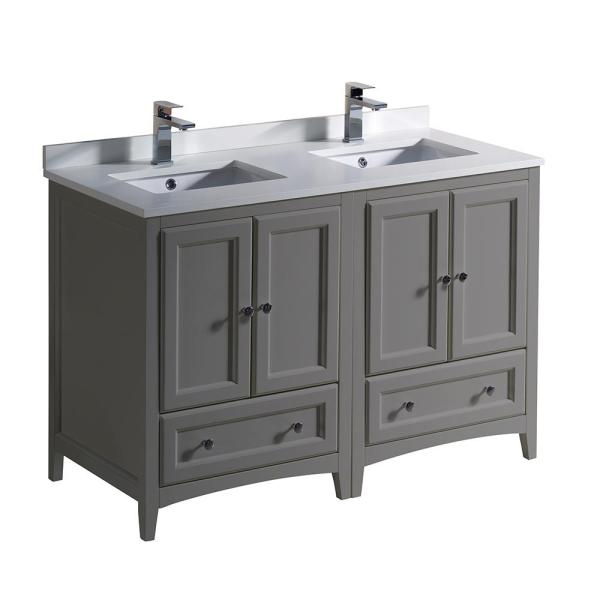 Fresca Oxford 48 In. Traditional Double Bath Vanity In
