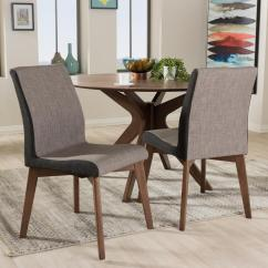 Dining Chairs Fabric Hyperextension Roman Chair Baxton Studio Kimberly Gray Upholstered Set Of 2