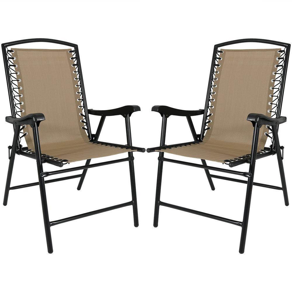beach lawn chairs marcel breuer s iconic 1928 cesca chair sunnydaze decor khaki sling folding set of 2 dl