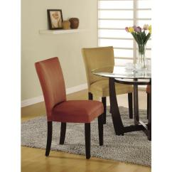 Parson Chairs Phil And Teds Poppy High Chair Cover Coaster Castana Collection Terracotta Set Of 2 101493 The Home Depot