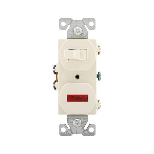 small resolution of eaton 15 amp single pole combination toggle switch and pilot light light almond