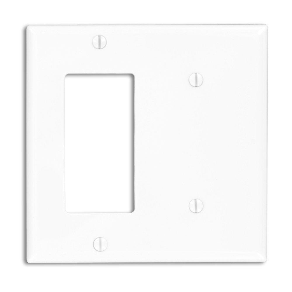 Leviton 2-Gang Standard Size 1 No Device Blank 1-Decora