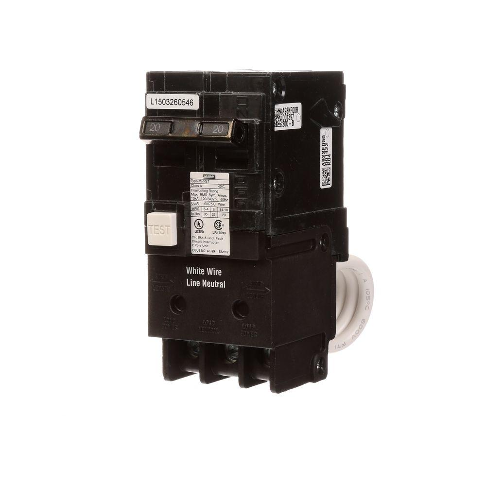 medium resolution of murray 20 amp double pole type mp gt gfci circuit breaker