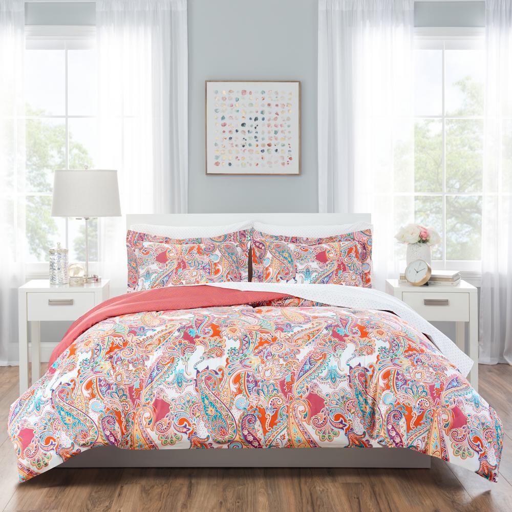 Nicole Miller Nicole Miller Kids 5Piece Twin Multi Paisley Comforter SetTPSLY999  The Home