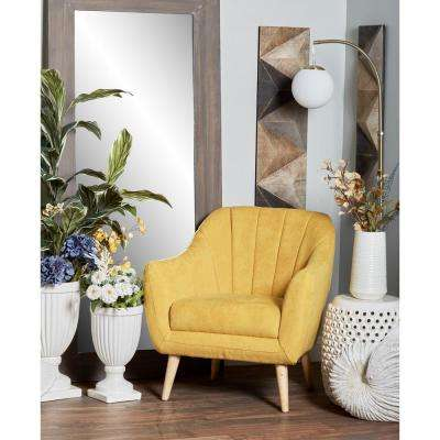 accent chair yellow diy folding youtube wood arm chairs the home depot fabric and cushioned