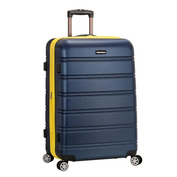 Rockland Melbourne 28 In. Navy Expandable Hardside Dual Wheel Spinner Luggage-f1603-navy
