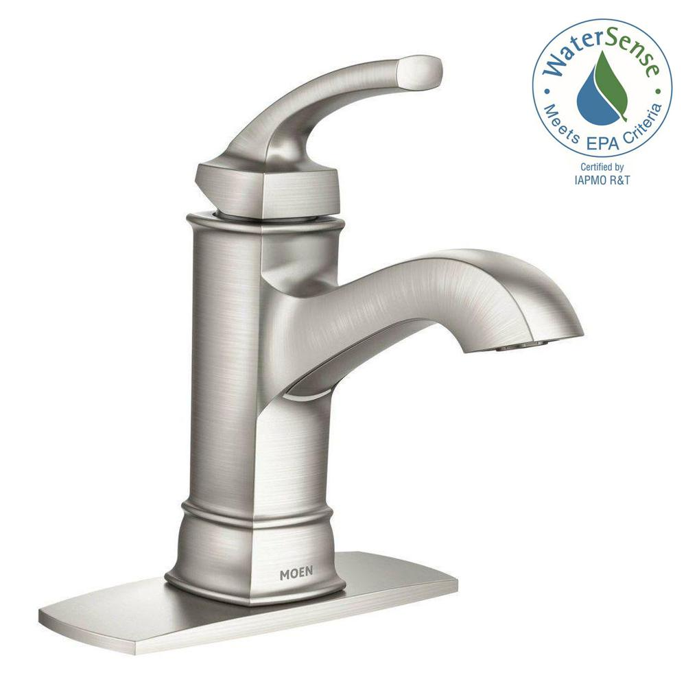 MOEN Hensley Single Hole SingleHandle Bathroom Faucet