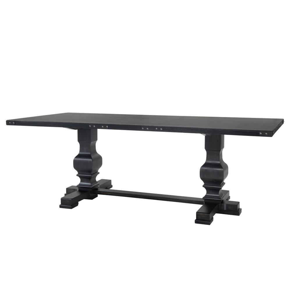 pedestal kitchen table pine palmer antique black double dining 8640 blk the