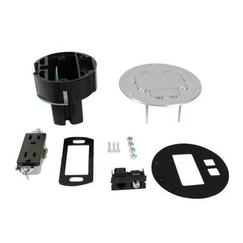 small resolution of legrand wiremold dual service floor box kit with 15 amp receptacle and 1 rj45 cat 5e