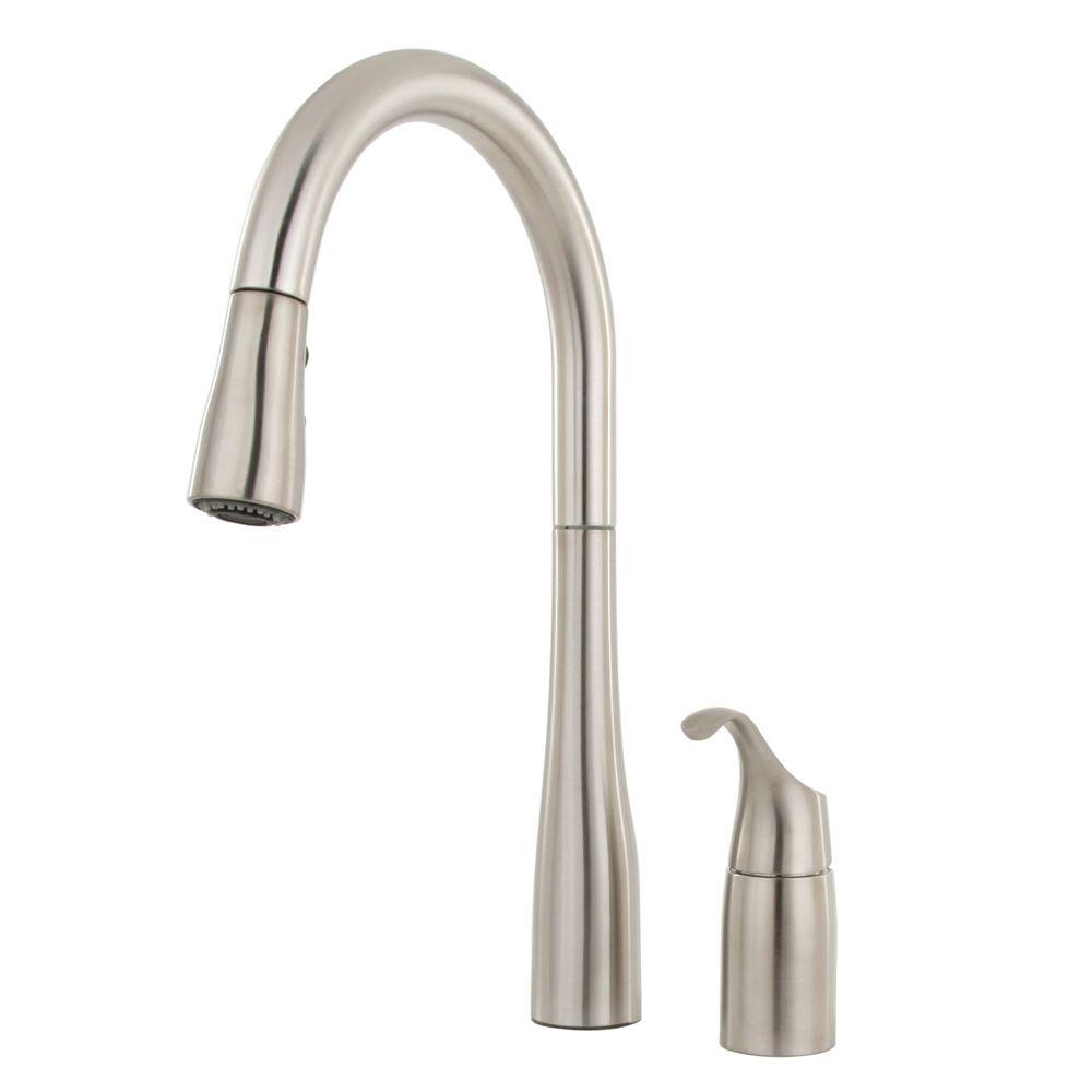 Kohler Simplice Single Hole Pulldown Kitchen Faucet In