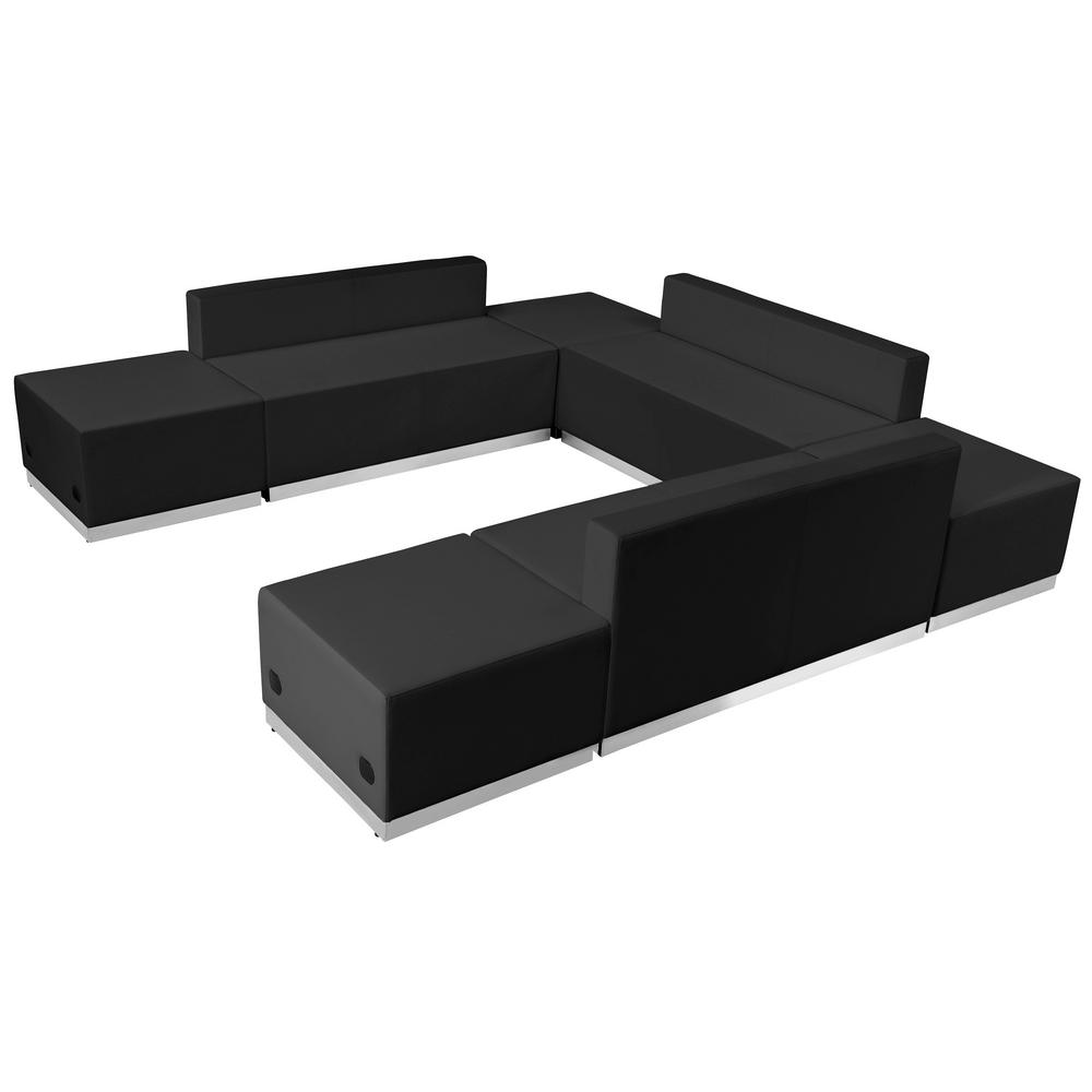 Carnegy Avenue 7 Piece Black Living Room Sets Cga Zb 21543 Bl Hd The Home Depot