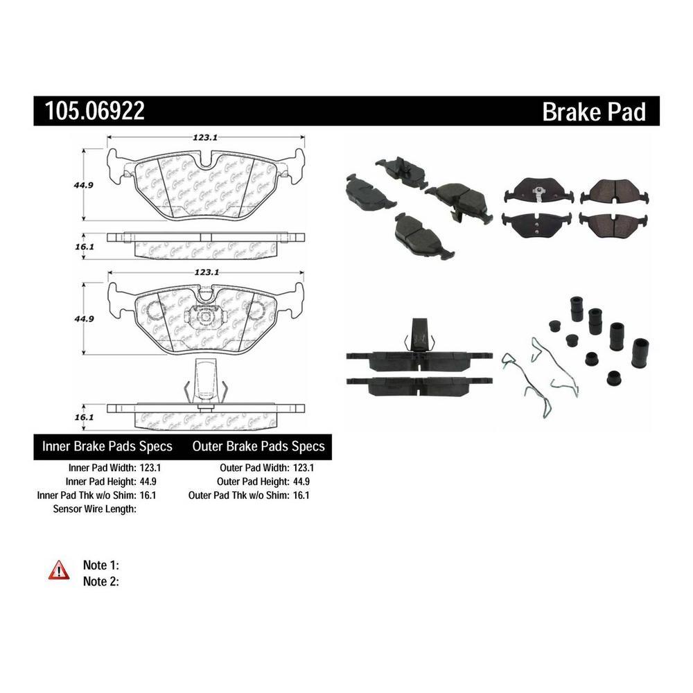 Centric Disc Brake Pad Set 1999-2003 Saab 9-5-105.06922