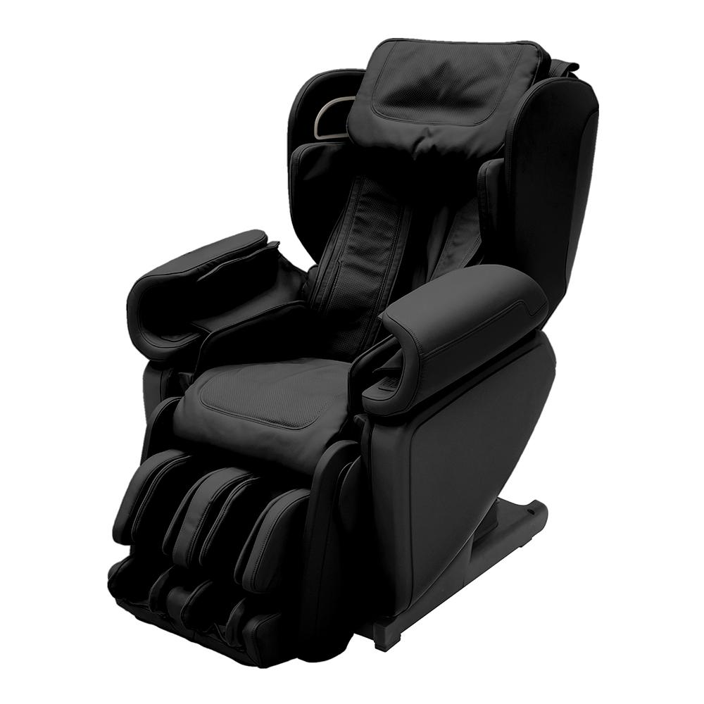 back massage chair chase lounge synca wellness kagra black modern synthetic leather premium super stretch 4d the home depot