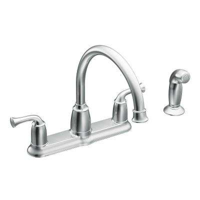 farmhouse kitchen faucet backsplash tiles for faucets the home depot banbury 2 handle mid arc standard with side sprayer in chrome