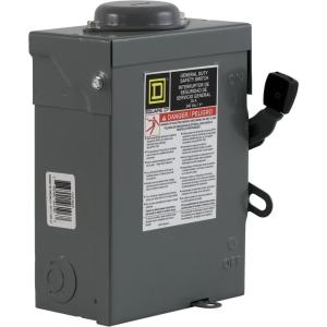Square D 30 Amp 240Volt 3Pole 3Phase Fused Outdoor