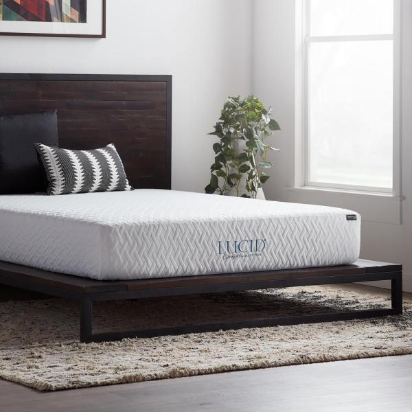 Lucid Comfort Collection 10 In. Queen Gel Memory Foam Mattress - Medium-lucc10qq3pmf Home