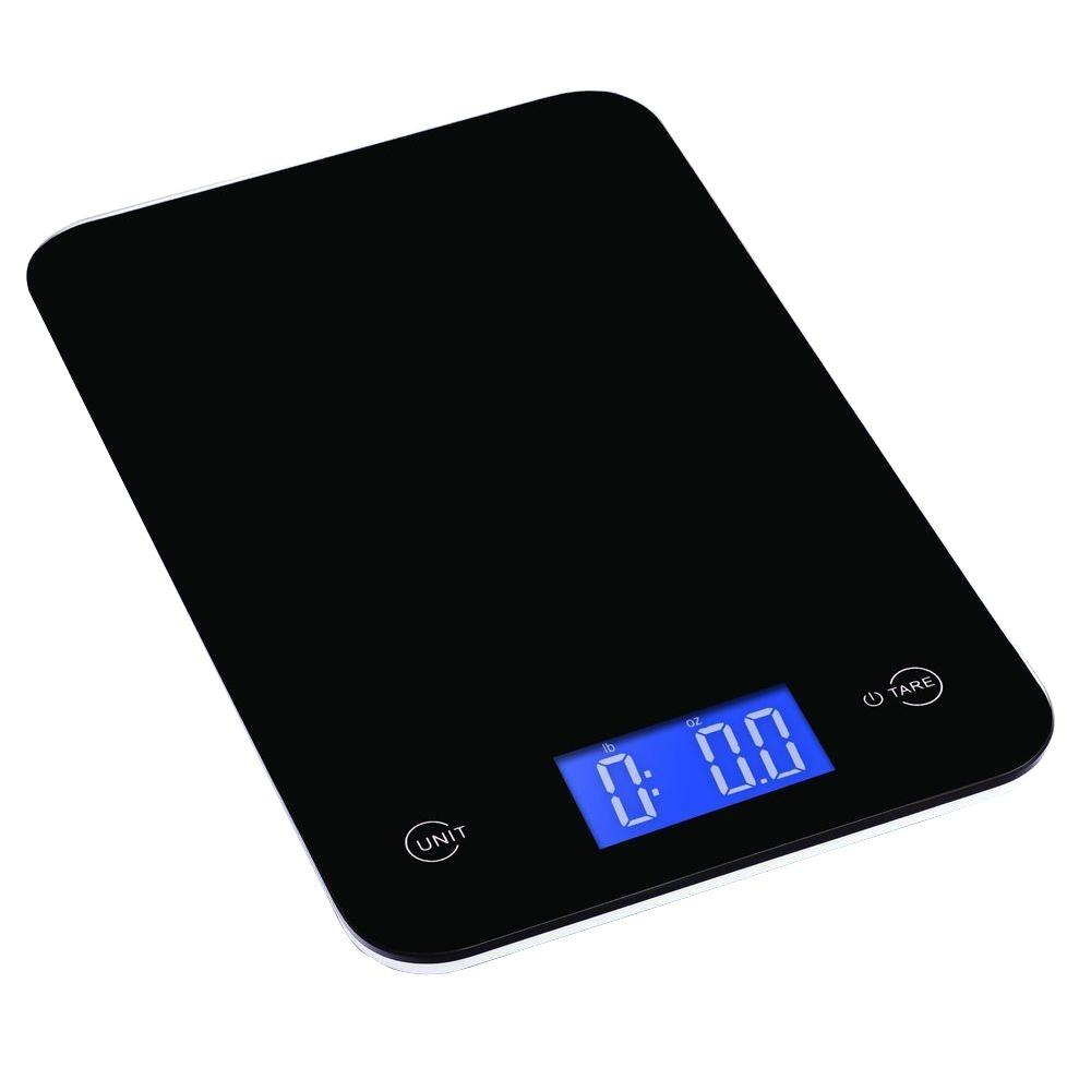 kitchen scales stove tops ozeri touch professional digital scale 18 lbs edition tempered glass in elegant black
