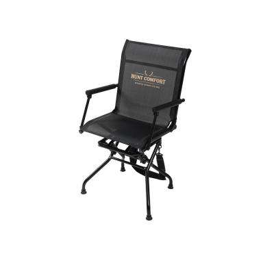 swivel hunting chair reviews wheelchair zauba metal hiking camping gear fishing the multi position black and camo mesh lite
