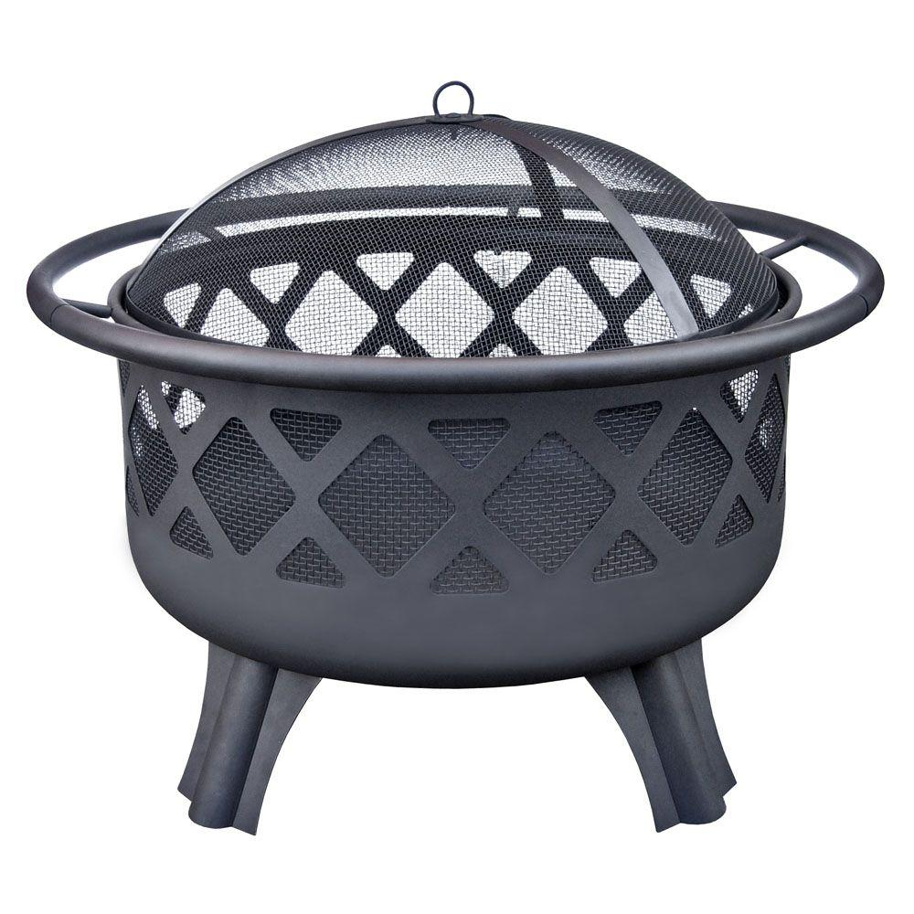 Hampton Bay Crossfire 2950 in Steel Fire Pit with