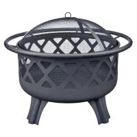 Hampton Bay Crossfire 29.50 in. Steel Fire Pit with ...