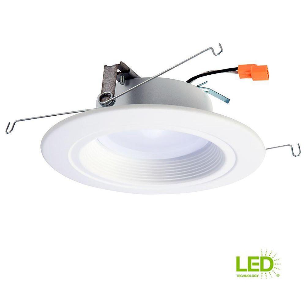 medium resolution of white integrated led recessed ceiling light fixture retrofit downlight at 90 cri 3000k soft white