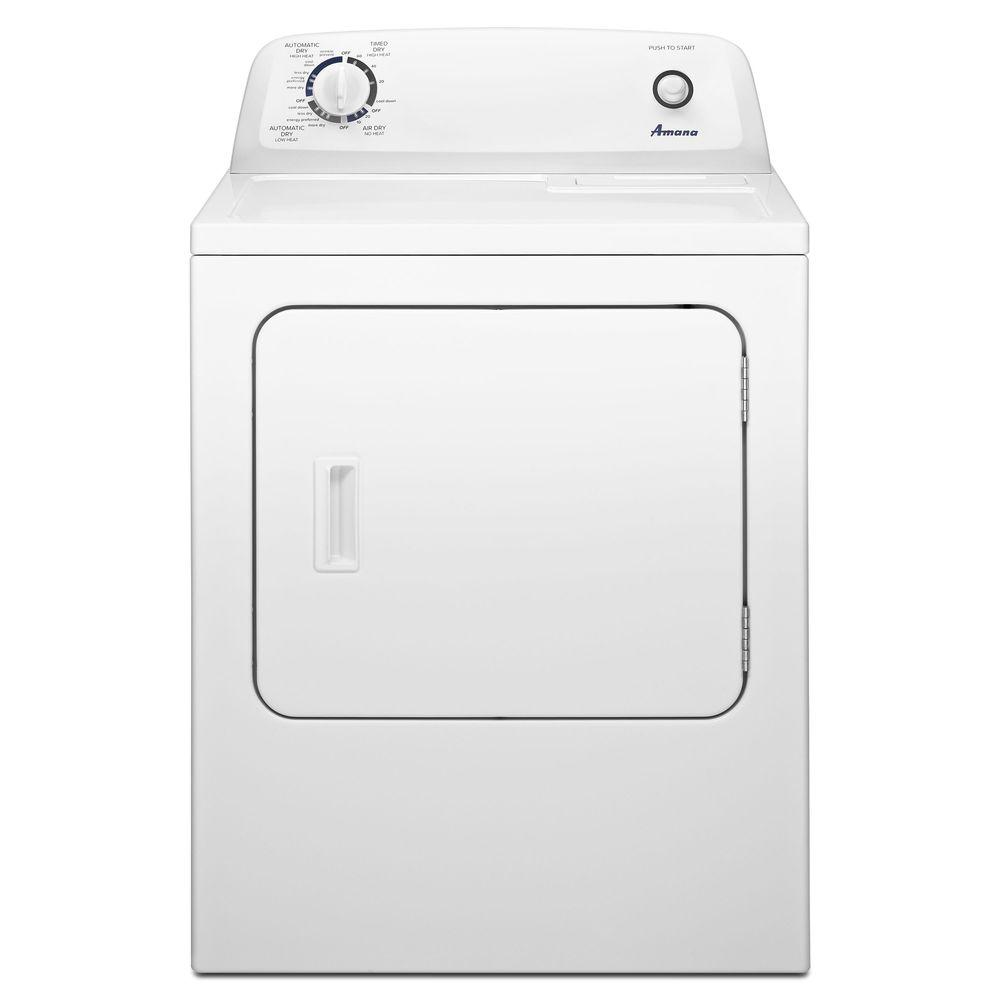 hight resolution of amana 6 5 cu ft 240 volt white electric vented dryer with wrinkle prevent