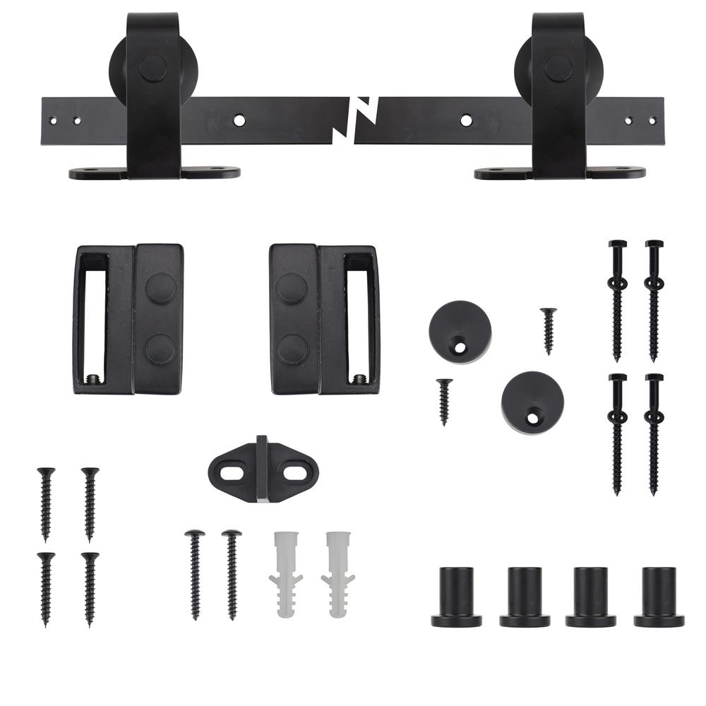 Everbilt Black Top Mount Decorative Sliding Door Hardware