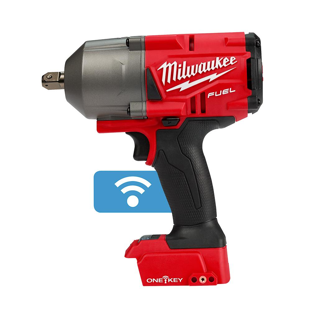 Milwaukee M18 FUEL ONE-KEY 18-Volt Lithium-Ion Brushless Cordless 1/2 in. Impact Wrench w/ Pin Detent (Tool-Only)-2862-20 - The Home Depot