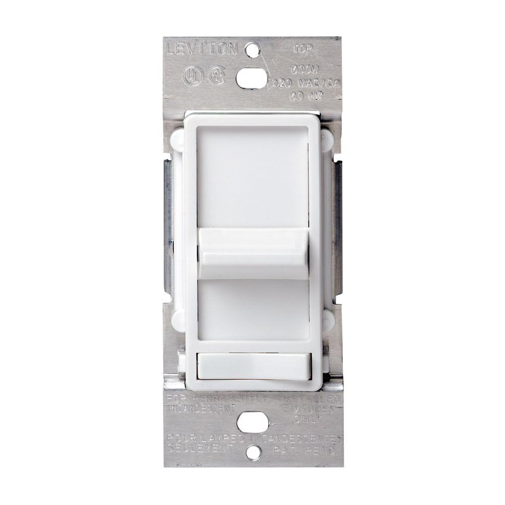 hight resolution of leviton sureslide 600 watt dimmer white r62 06633 1lw the home depot leviton 6633 p wiring diagram