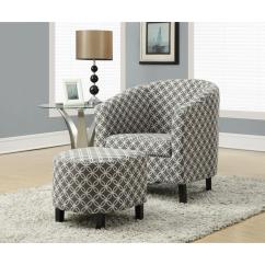 Grey And White Accent Chair Massage Headrest Monarch Specialties Cotton Arm With Ottoman I 8060 The Internet 205550975