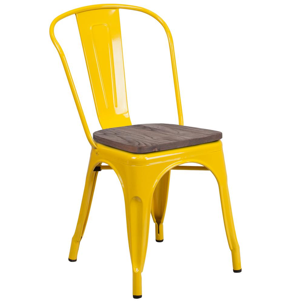 Flash Furniture Yellow Side ChairCGACH249897YEHD