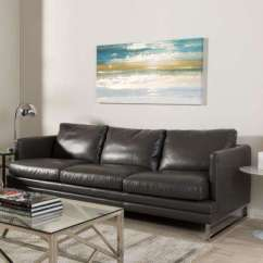 Dark Gray Leather Living Room Furniture Purple Faux Sofas Loveseats Dakota Modern Upholstered Sofa