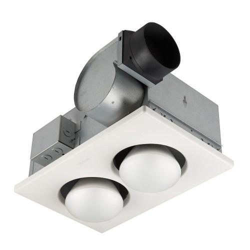 small resolution of nutone 70 cfm ceiling bathroom exhaust fan with 250 watt 2 bulb infrared bathroom ceiling heaters