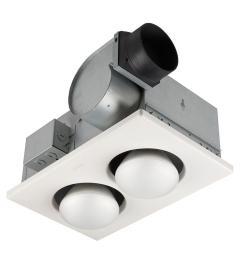 broan 70 cfm ceiling bathroom exhaust fan with 500 watt 2 bulb infrared heater [ 1000 x 1000 Pixel ]