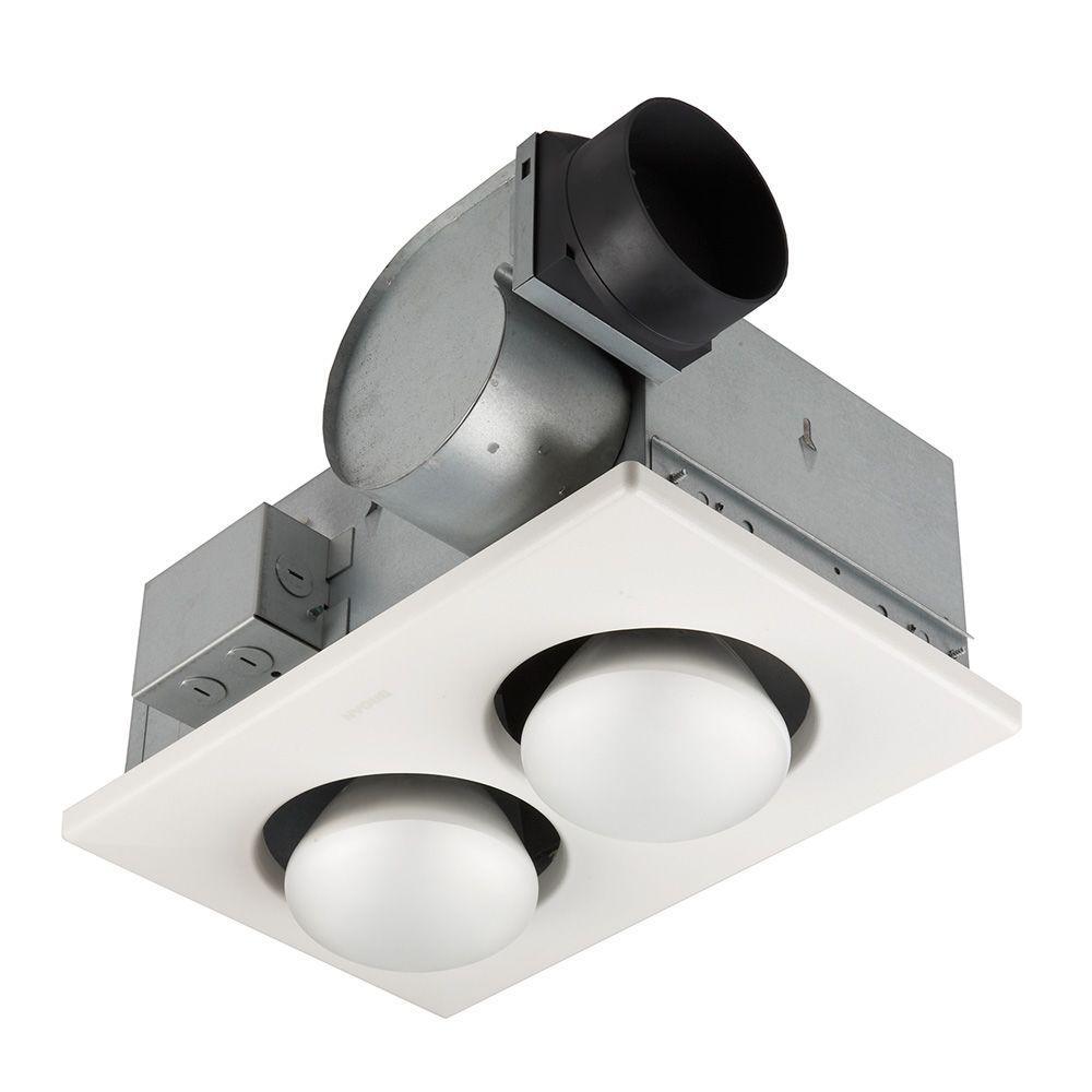 hight resolution of broan 70 cfm ceiling bathroom exhaust fan with 500 watt 2 bulb infrared heater