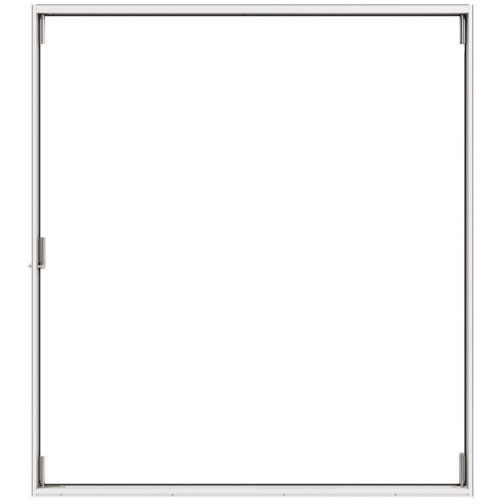 JELD-WEN 70 in. x 77 in. F-2500 White Painted Fiberglass