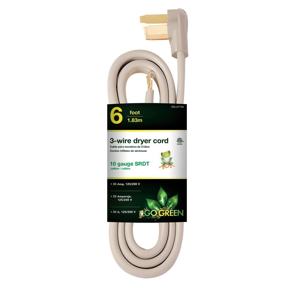 medium resolution of 10 3 3 wire dryer cord hd 627 833 the home depot