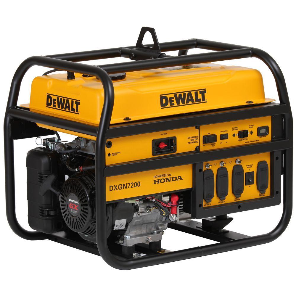 medium resolution of 4500 watt gasoline powered electric manual start portable generator