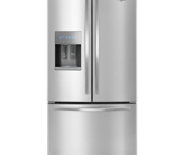 Whirlpool  In W  Cu Ft French Door Refrigerator In Fingerprint