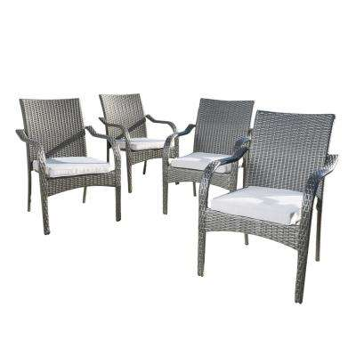 stackable outdoor chairs conference tables and dining patio the home depot jaxson grey wicker chair with