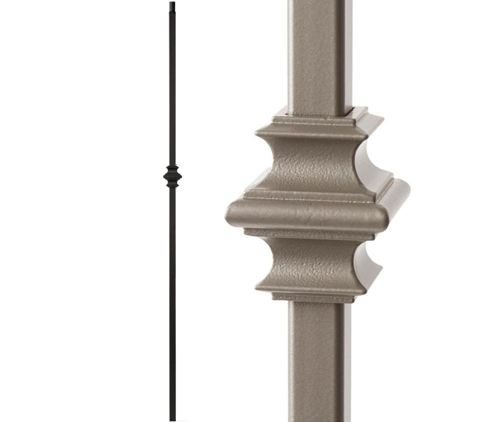 House Of Forgings Ash Grey 34 1 34 T Mega Single Knuckle Hollow | Iron Spindles Home Depot | Ole Iron Slides | Wm Coffman | Stair Parts | Oil Rubbed | Deck