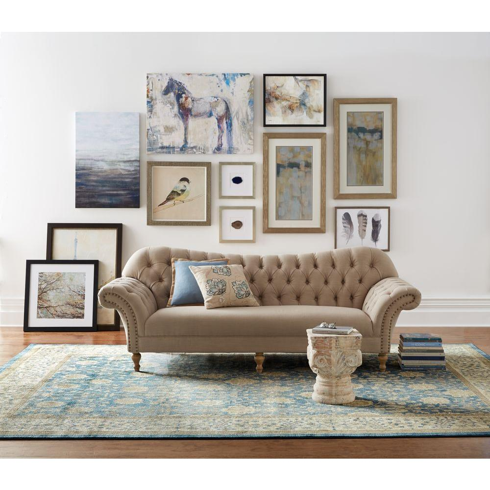 Home Decorators Collection Arden Dark Beige Linen Sofa