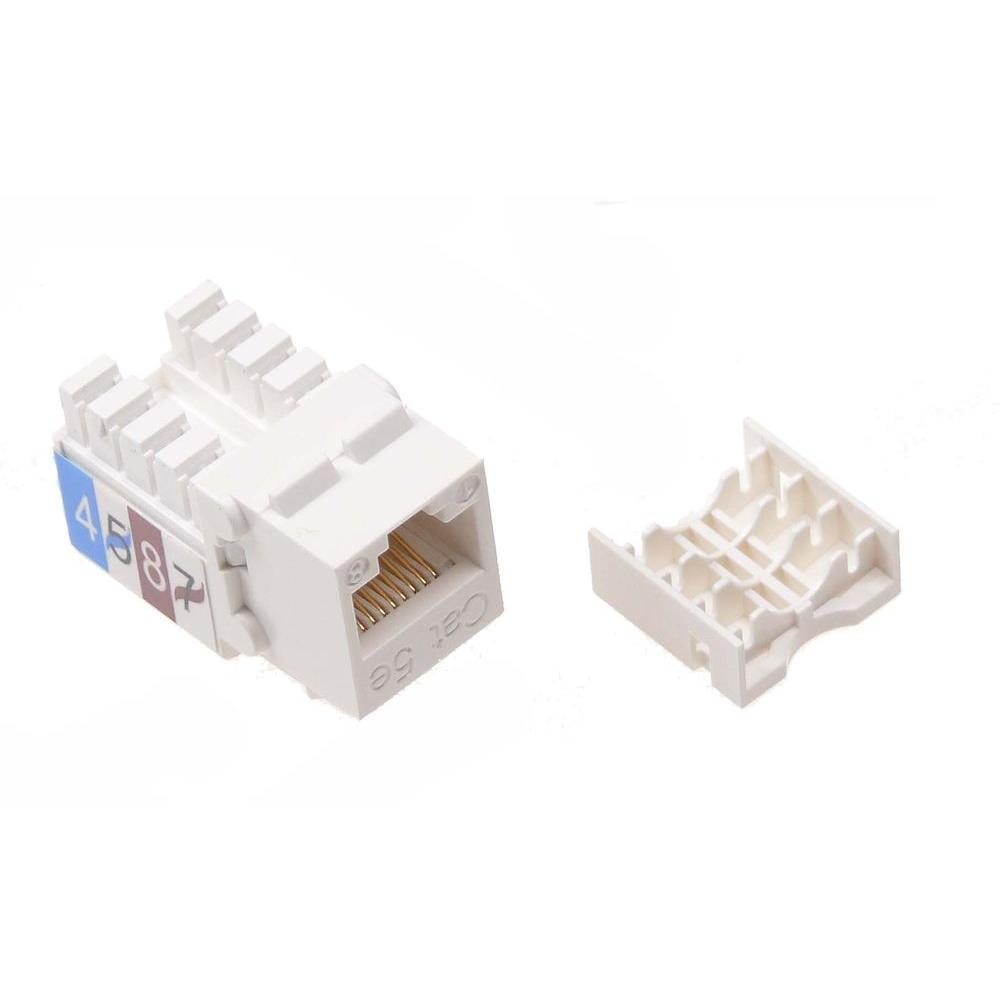hight resolution of ntw cat5e slim hd 90d keystone jack with punch down terminal white