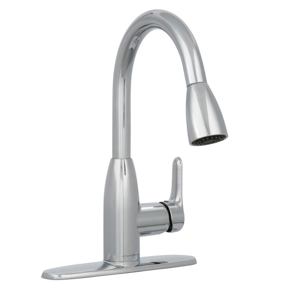 American Standard Nickel Pull Down Faucet, Nickel American