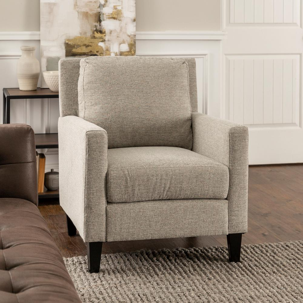 Accent Chair Living Room Walker Edison Furniture Company Grey Pillow Back Accent Chair