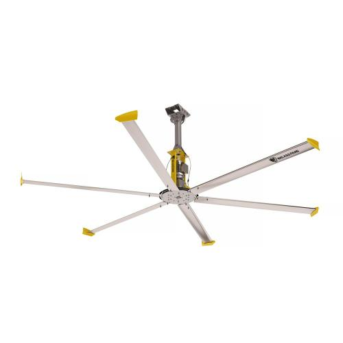 small resolution of big ass fans 4900 14 ft indoor silver and yellow aluminum shop ceiling fan with wall control install ceiling fan aluminum wiring