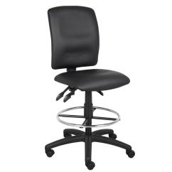 Chair Plus Stool Mexican Dining Table And Chairs Boss Black Multi Function Leather Drafting B1645 The